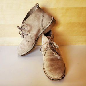 Hush Puppies Cyra Catelyn Taupe Suede Chukka Boots